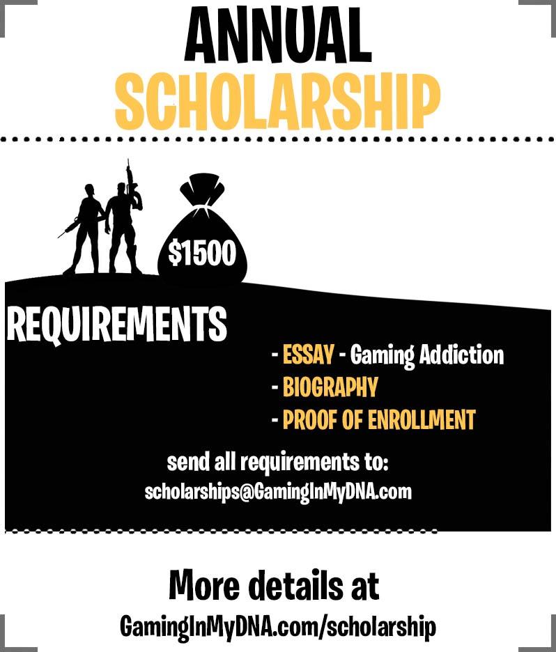 GamingInMyDNA Scholarship